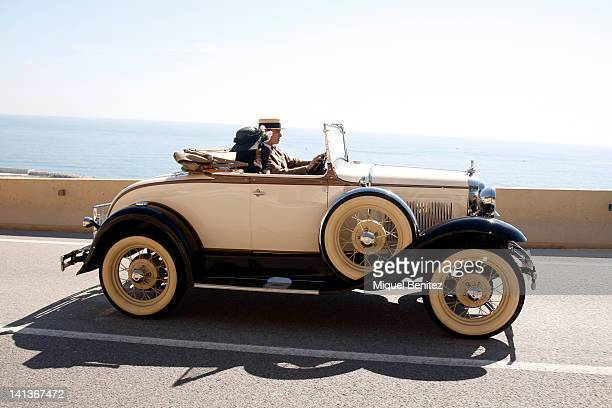 Participant driving the 54th Rally BarcelonaSitges on March 11 2012 in Sitges Spain