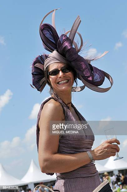 A participant in the 160th Prix de Diane horse racing is pictured on June 14 2009 in Chantilly a northern Paris suburb French jockey Christophe...