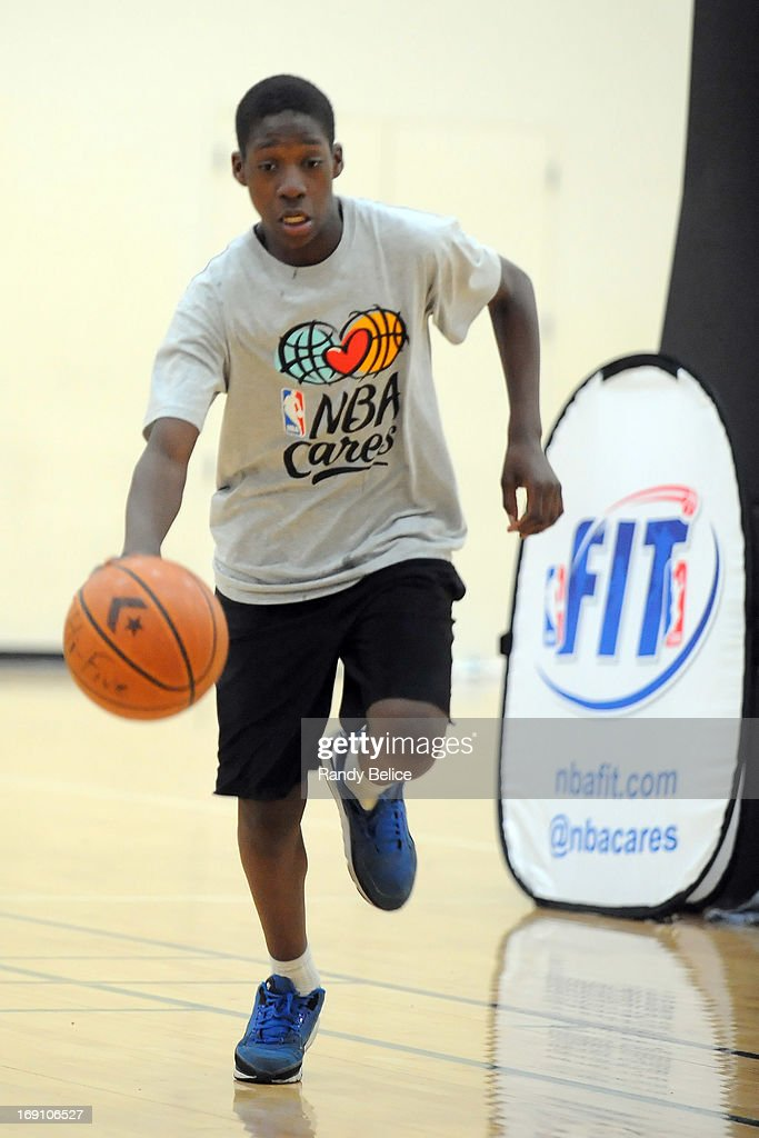 A participant of a NBA Cares Basketball Clinic as part of the 2013 NBA Draft Combine completes a dribbling exercise on May 18, 2013 at Quest Multiplex in Chicago, Illinois.