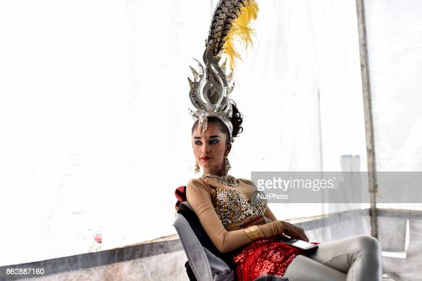 Participant of Diwali celebrations pictured at backstage during the Diwali Celebrations on October 18 2017 at Brickfield In Kuala Lumpur Malaysia...