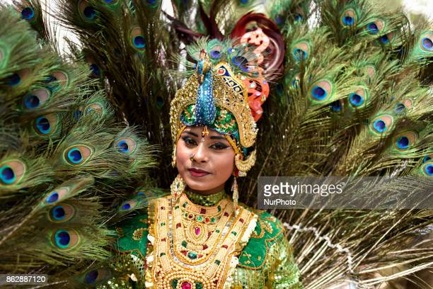 Participant of Diwali celebrations pose for picture during the Diwali Celebrations on October 18 2017 at Brickfield In Kuala Lumpur Malaysia Hundreds...