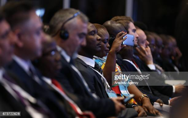 Participants are seen during the TurkeyAfrica First Agriculture Ministers Meeting and Agribusiness Forum at Maritim Pine Beach Hotel in Antalya...