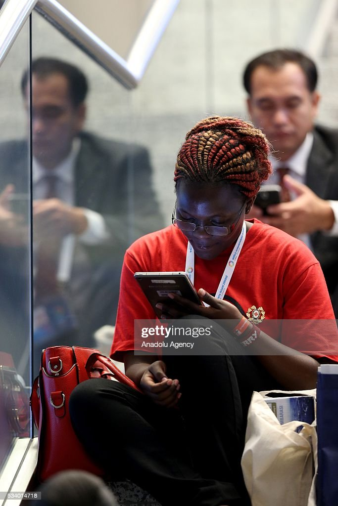 Participants are seen during World Humanitarian Summit at Lutfi Kirdar Congress Center in Istanbul, Turkey on May 24, 2016.