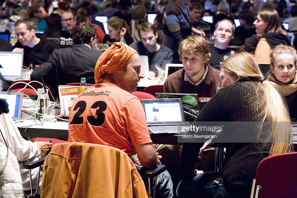 Participants at the Pirate Party National Convention at RuhrCongress on November 24, 2012 in Bochum, Germany. German Pirates have a lot to achieve as the party is flagging in the polls and facing national elections in less than a year.