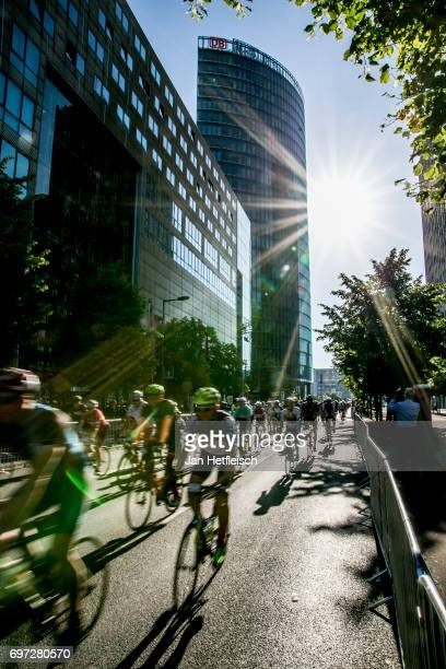 Participants compete during the Velothon Berlin on June 18 2017 in Berlin Germany
