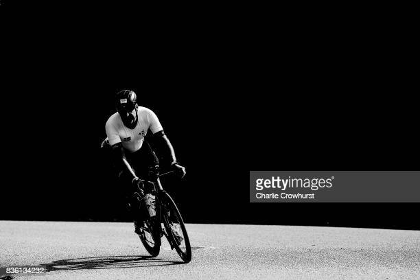 Participants compete in the cycle leg of the race during Ironman Kalmar on August 19 2017 in Kalmar Sweden