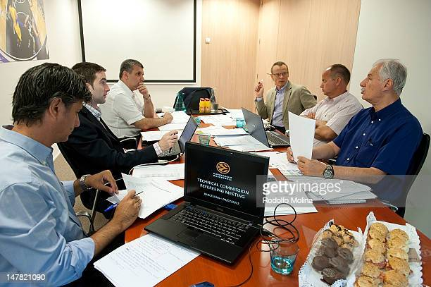 Participants during the Euroleague Basketball Referee's Technical Commission Meeting at Euroleague Headquarter on July 4 2012 in Barcelona Spain