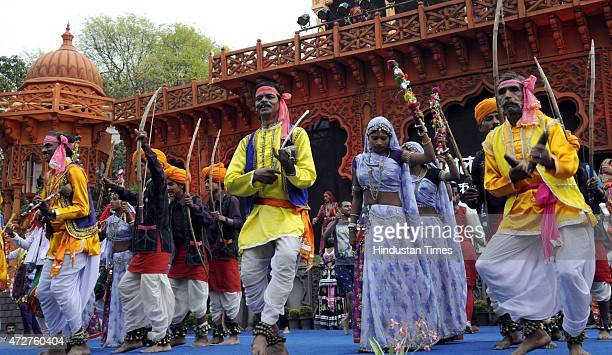 Participants from all the states of the country performing their individual dance styles in a bid to create a World Record during the Malwa Utsav...