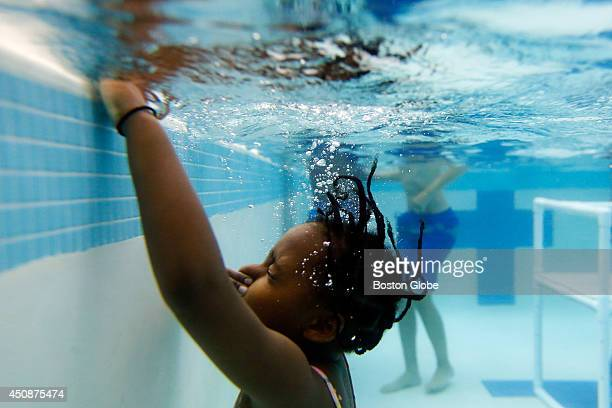 Participants in Water Warriors a swim lesson program for METCO students grades 1 to 8 taught by Wayland High School student volunteers in Wayland...