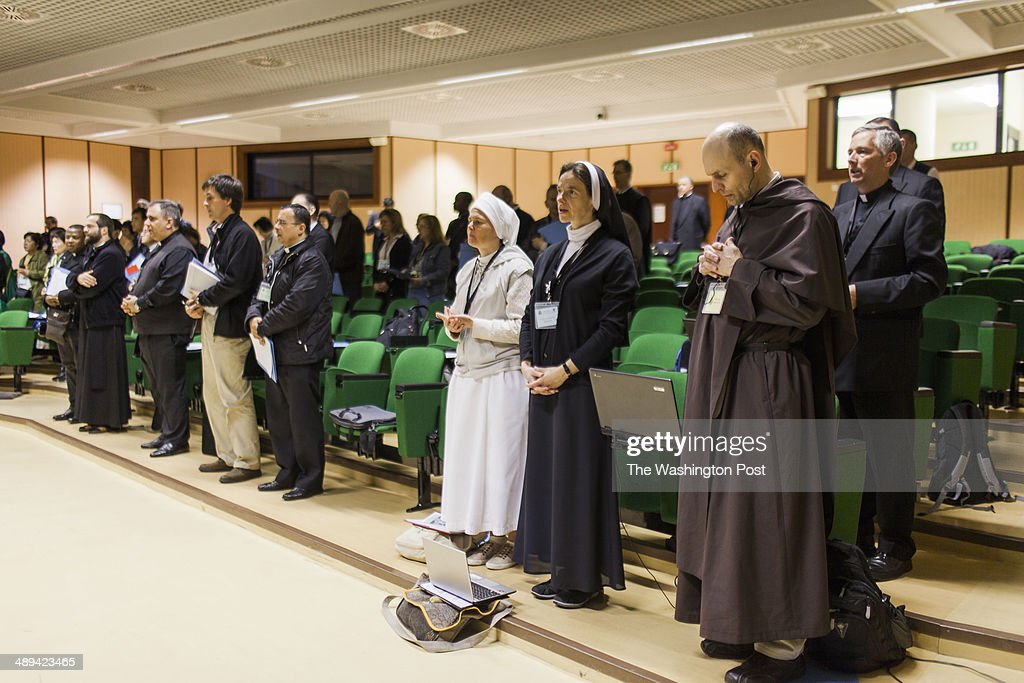 Participants of the Exorcism and Prayer of Liberation annual conference are seen as they attend the conference at the Pontifical Athenaeum Regina...