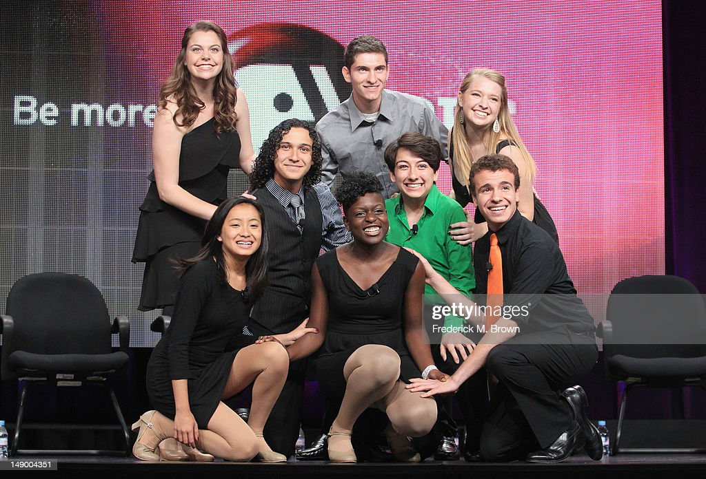 Participants of the show 'Broadway or Bust' perform onstage during day 1 of the PBS portion of the 2012 Summer TCA Tour held at the Beverly Hilton Hotel on July 21, 2012 in Beverly Hills, California.