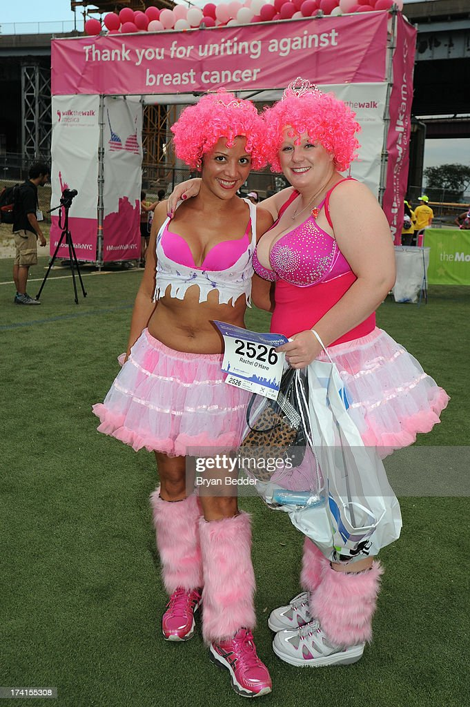 Participants pose together at the first-ever MoonWalk NYC at Randall's Island on July 20, 2013 in New York City.