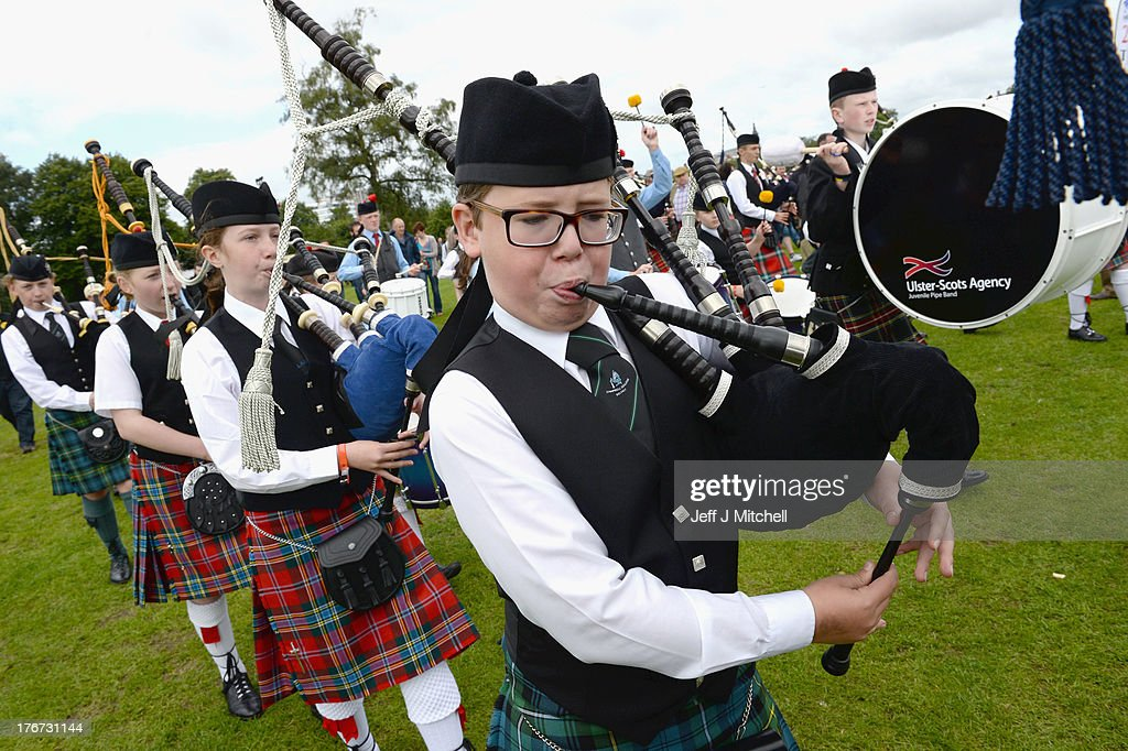 Participants take part in 2013 World Pipe Band Championships at Glasgow Green on August 18, 2013 in Glasgow, Scotland. The annual World Pipe Band Championships has returned to Glasgow this weekend, with 225 pipe bands competing for the title.
