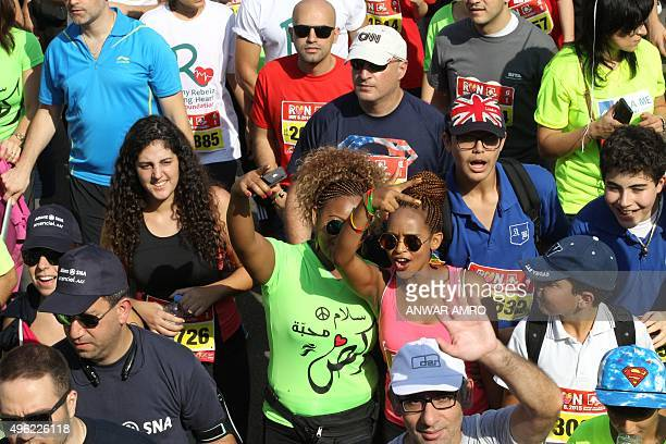 Participants take part in the 13th Beirut Marathon on November 8 2015 in the Lebanese capital AFP PHOTO/ANWAR AMRO