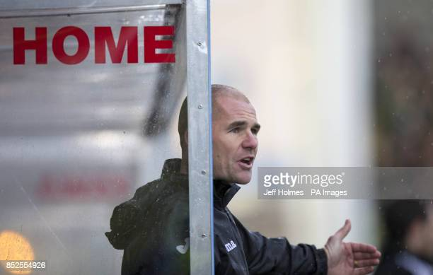 Partick Thistle manager Alan Archibald during the Scottish Premiership match at Firhill Stadium Glasgow