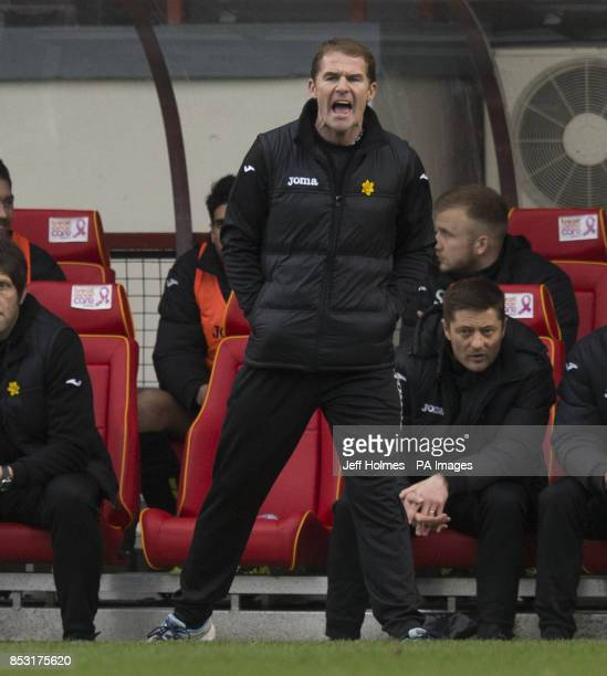 Partick Thistle manager Alan Archibald during the Scottish Premier League match at Firhill Stadium Glasgow