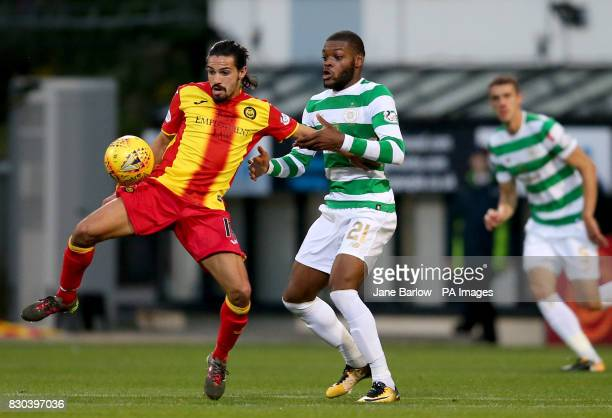Partick Thistle's Ryan Edward and Celtic's Olivier Ntcham battle for the ball during the Ladbrokes Scottish Premiership match at Firhill Stadium...