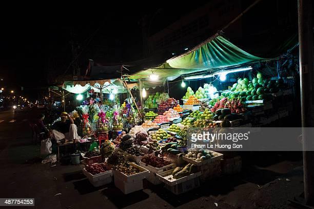 A particular fruit kiosk on the street
