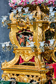 particular of candelora in the streets of Catania