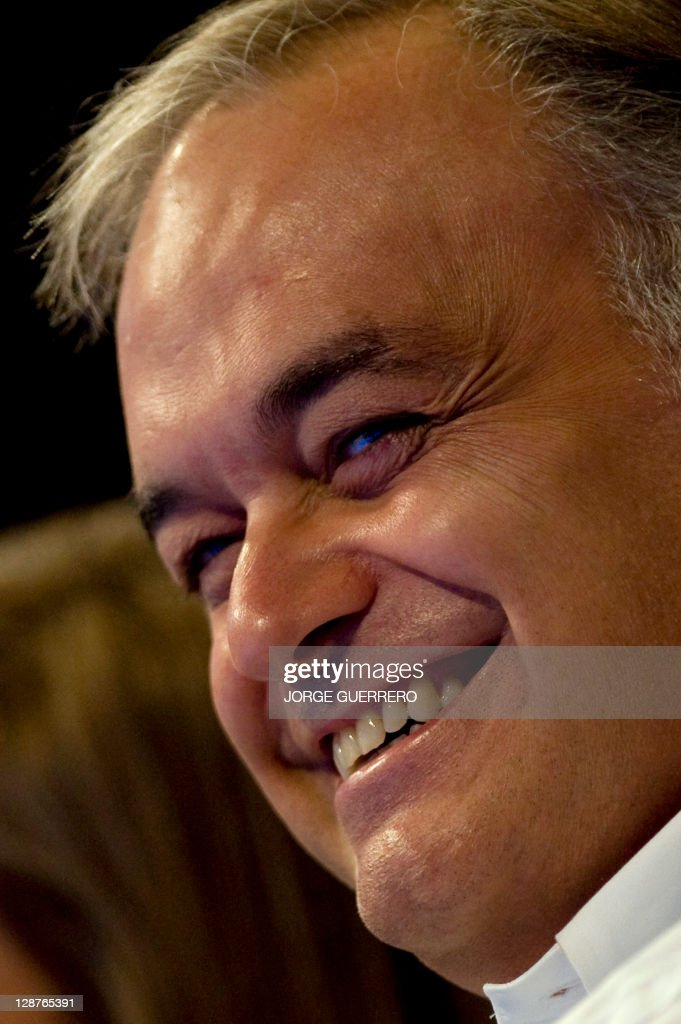 Partido Popular deputy Comunication secretary Esteban Gonzalez Pons smiles during the Popular Party National Congress on October 7 2011 in Malaga...