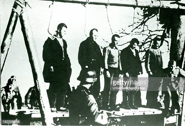 Partisans executed by German army during the invasion of Russia in 1941