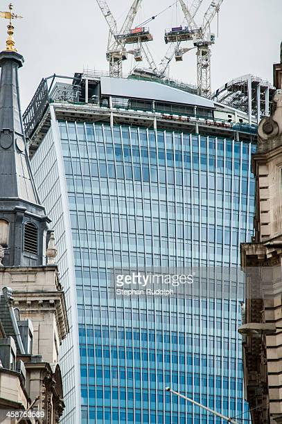 CONTENT] Partly view on the 20 Fenchurch Street in construction