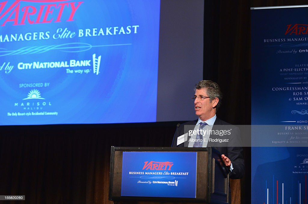 Partner at Altman Greenfield & Selvaggi Barry Greenfeild attends Variety's Business Managers Elite Breakfast presented by City National Bank at Montage Beverly Hills on November 8, 2012 in Beverly Hills, California.