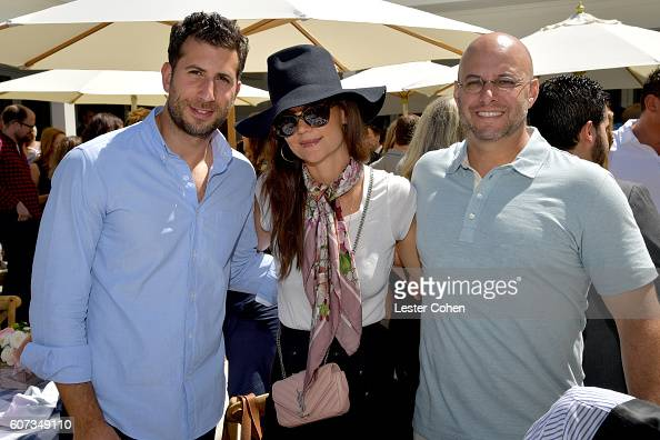 ICM Partners' Adam Schweitzer actress Katie Holmes and ICM Partners' Chris Silbermann at the ICM Partners PreEmmy Brunch on September 17 2016 in...
