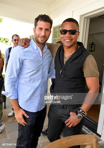 Partners' Adam Schweitzer and actor Cuba Gooding Jr at the ICM Partners PreEmmy Brunch on September 17 2016 in Santa Monica California
