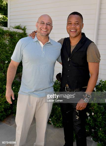 Partners' Chris Silbermann and actor Cuba Gooding Jr at the ICM Partners PreEmmy Brunch on September 17 2016 in Santa Monica California