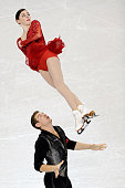 Partners Haven Denny and Brandon Frazier compete in the Championship Pairs Short Program Competition during day 1 of the 2015 Prudential US Figure...