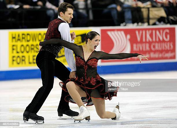 Partners Madison Hubbell and Zachary Donohue compete in the Championship Short Dance Program Competition during day 2 of the 2015 Prudential US...