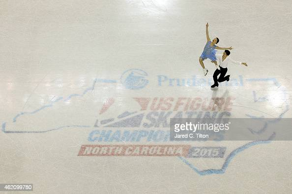 Partners Maia Shibutani and Alex Shibutani compete in the Championship Free Dance Program Competition during day 3 of the 2015 Prudential US Figure...