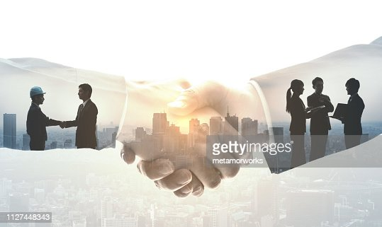 Partnership of business concept. : Stock Photo