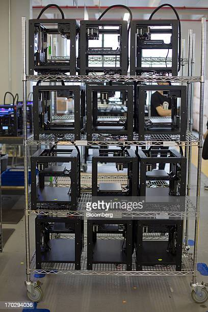 Parts for Makerbot Industries LLC 3D Printers wait to be assembled at the company's new factory in the Brooklyn borough of New York US on Thursday...