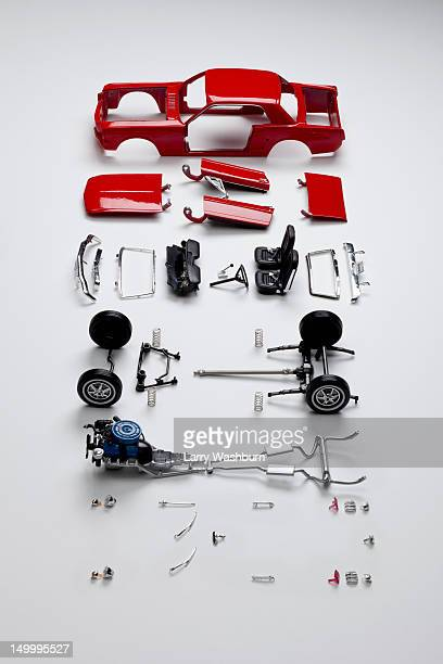 Parts of a model car