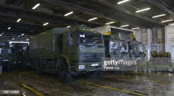 Parts of a Patriot antimissile system are being loaded onto a ship for transport to Turkey on January 8 2013 in Travemunde Germany Germany is...