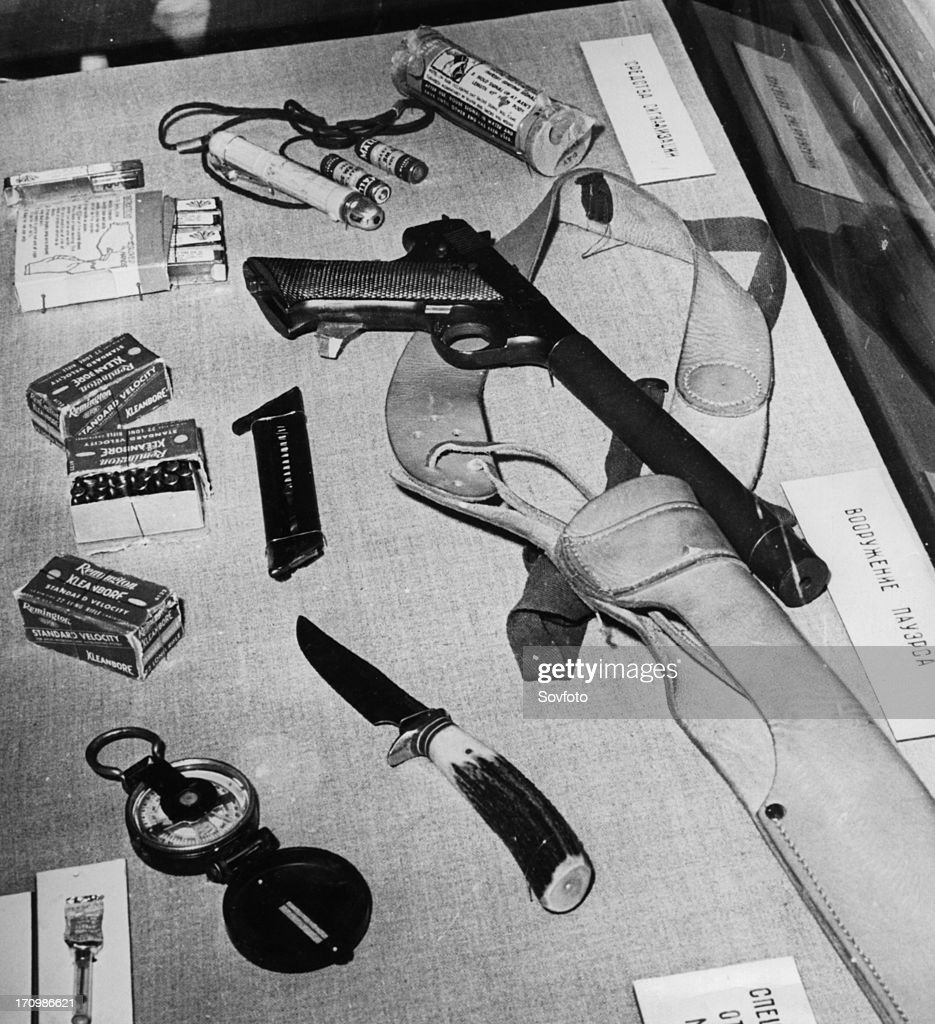 http://media.gettyimages.com/photos/parts-of-the-emergency-military-survival-kit-found-in-u2-spy-plane-picture-id170986621