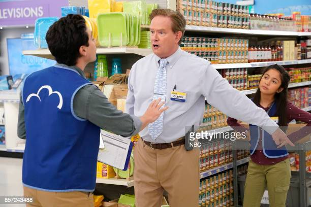 SUPERSTORE 'PartTime Hires' Episode 303 Pictured Ben Feldman as Jonah Mark McKinney as Glenn Isabella Day as Emma
