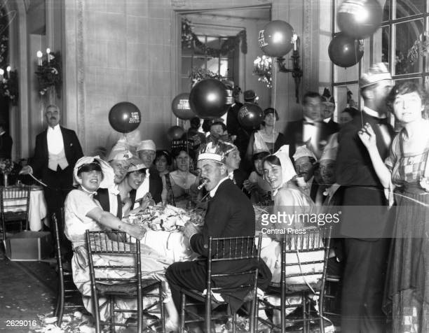 A party at the Ritz Hotel to celebrate the first anniversary of the Armistice