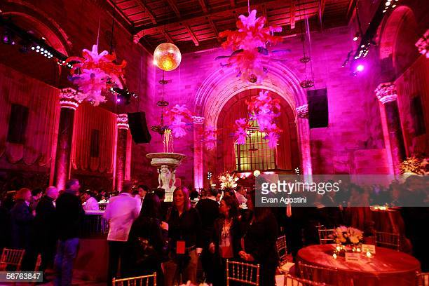 Party atmosphere is seen at 'The Pink Panther' after party at Cipriani's 42nd Street February 6 2006 in New York City New York