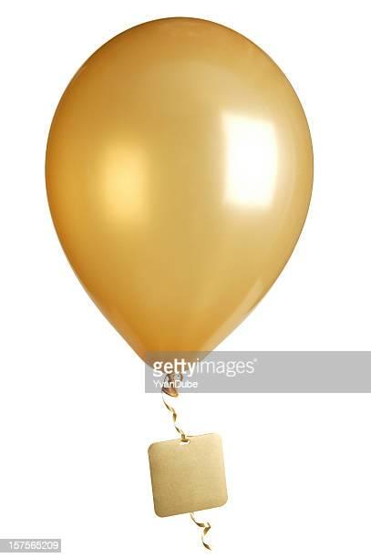 Fête des montgolfières balloon avec étiquette vierge