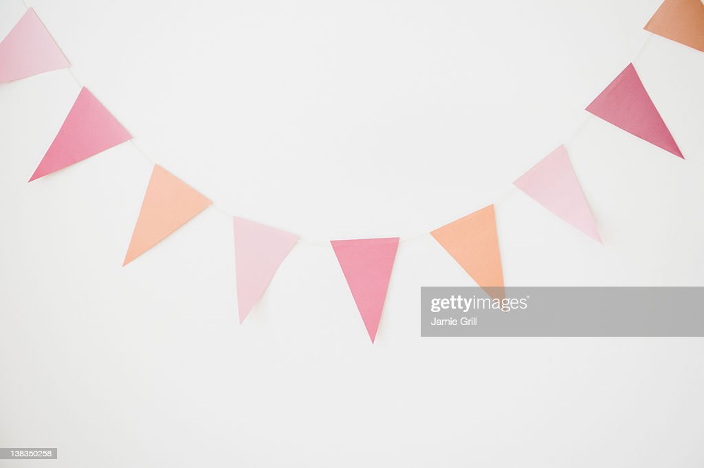 Party banner on wall