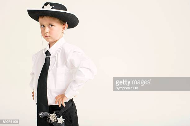party boy dressed as sheriff