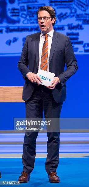 Party conference of the Christian Social Union in Munich Andreas Scheuer Secretary General of the CSU during the presentation of the party program