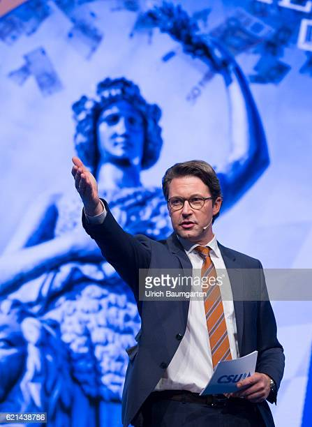 Party conference of the Christian Social Union in Munich Andreas Scheuer Secretary General of the CSU during the presentation of the party program On...