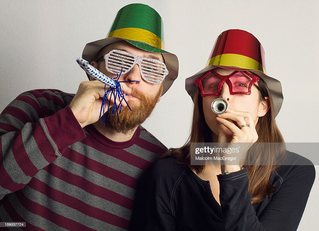 Party Couple : Stock Photo
