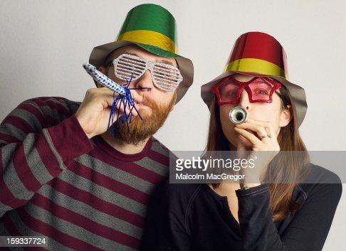 Party Couple : Bildbanksbilder