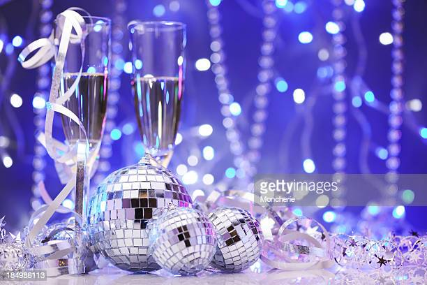 Party decoration with disco balls
