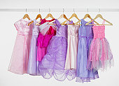 Party dresses on a rail